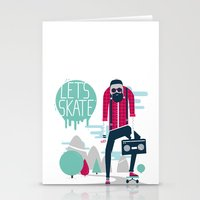 Let's Skate  Stationery Cards