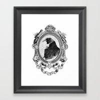 Old Black Crow Framed Art Print