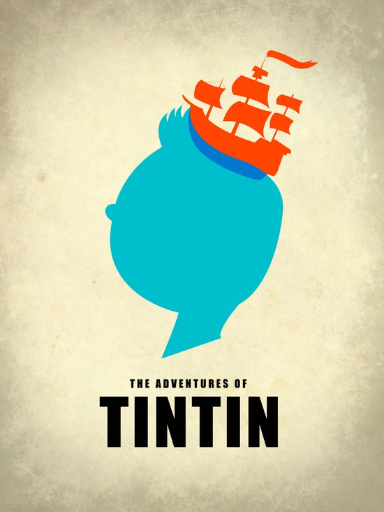 THE ADVENTURES OF TINTIN Art Print
