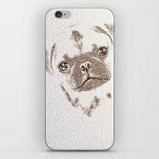 The Intellectual Pug iPhone & iPod Skin