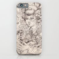 iPhone Cases featuring Irezumi by Rudy Faber