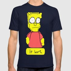 le bart Mens Fitted Tee Navy SMALL