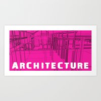 Architecture Pink Art Print