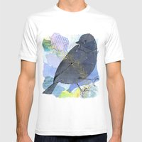 Vinter fugl Mens Fitted Tee White SMALL