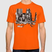New York New York Mens Fitted Tee Orange SMALL
