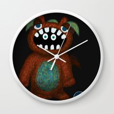 Scared Monster Wall Clock