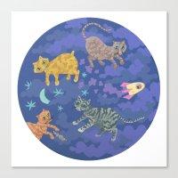 Astrocats Canvas Print