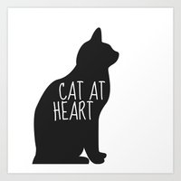 CAT AT HEART Art Print