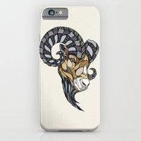iPhone & iPod Case featuring Ram // Animal Poker by Andreas Preis