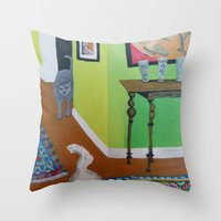 Domestic Violence Throw Pillow