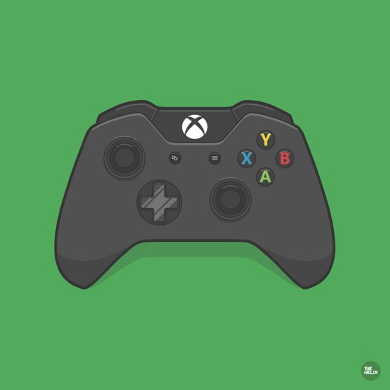 Xbox One Controller Art Print By Kevin Butler Design