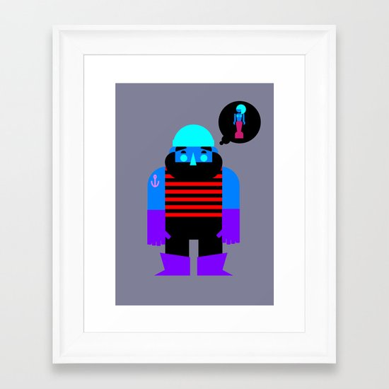 Fiserman Framed Art Print