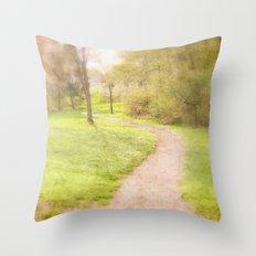 Winding Pathway Throw Pillow