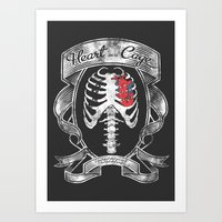 Heart in a Cage Art Print