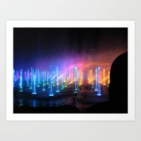 Lights in the Water Art Print