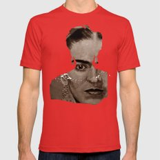 FRIDA - SHIRT version - sepia Mens Fitted Tee Red SMALL