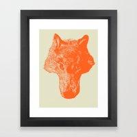Head Coyote Framed Art Print
