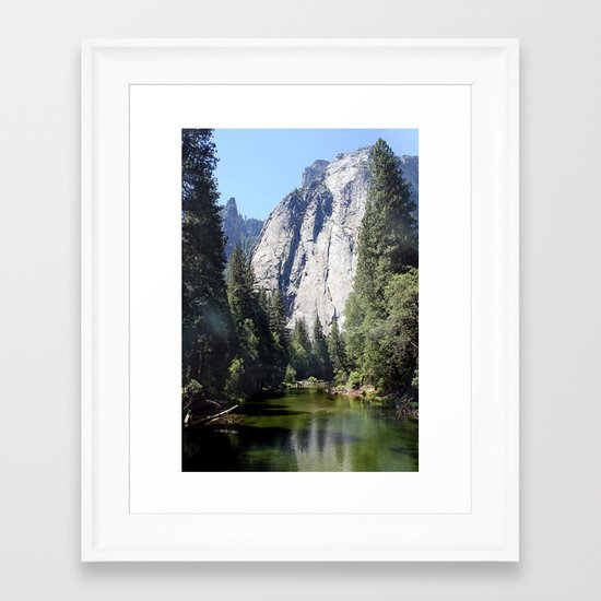 Yosemite Reflection Framed Art Print