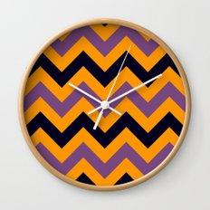 Halloween Chevron Wall Clock