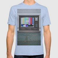 Floor Model Test Pattern Mens Fitted Tee Athletic Blue SMALL
