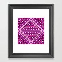Tribal Diamond Framed Art Print