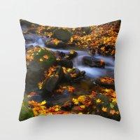 Autumn Flow Throw Pillow