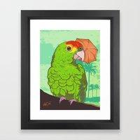 Parrot Illustration Framed Art Print