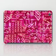 iPad Case featuring Tapa Tribal Red by Schatzi Brown