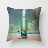 Beach's Rat Throw Pillow