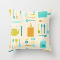 AFE Kitchen Utensils Throw Pillow