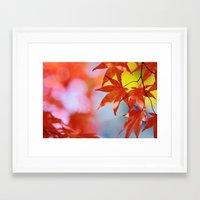 Autumn blush Framed Art Print