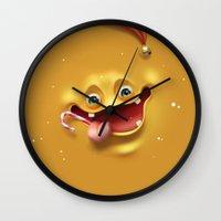 Christmas mad face Wall Clock
