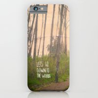 iPhone & iPod Case featuring Lets go down to the woods by Pips Ebersole
