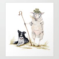 Sheepherd Sheep Art Print