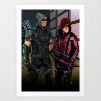 Arrowverse Art Print