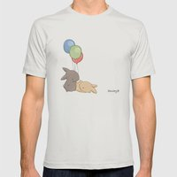 Balloons Mens Fitted Tee Silver SMALL