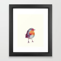 Winter Robin Framed Art Print
