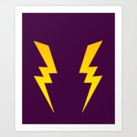 Lightning Leggings Art Print