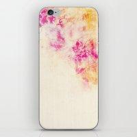 girly pink orange galaxy iPhone & iPod Skin