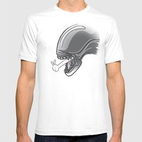 Alien?! Mens Fitted Tee White SMALL