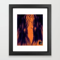 Dark Space [Digital Illu… Framed Art Print