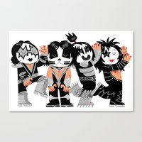 KISS!!!!! Canvas Print
