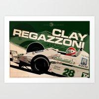 Clay Regazzoni - F1 1979 Art Print