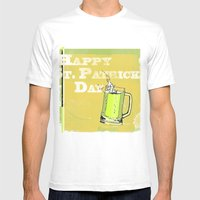 St Patrick's Day Mens Fitted Tee White SMALL