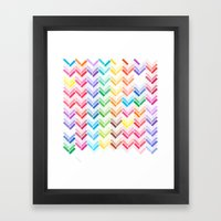 Colourful pattern Framed Art Print