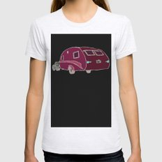 Cars and Campers Womens Fitted Tee Ash Grey SMALL
