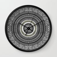 Mandala Tribe Wall Clock