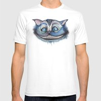 Cheshire Cat Grin - Alic… Mens Fitted Tee White SMALL