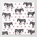 Polka Dots & Stripes Canvas Print