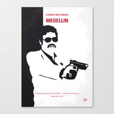 No526 My MEDELLIN minimal movie poster Canvas Print